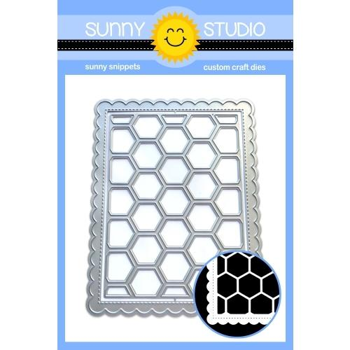 *NEW* - Sunny Studio - Frilly Frames Hexagon