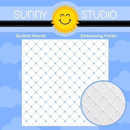 *NEW* - Sunny Studio - Quilted Hearts Embossing