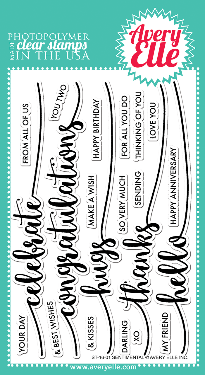 *NEW* - Avery Elle - Sentimental Clear Stamps