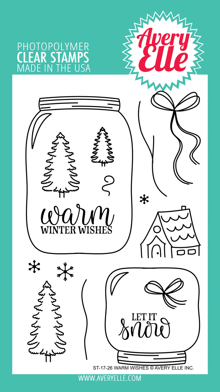 ##Avery Elle - Warm Wishes Clear Stamps