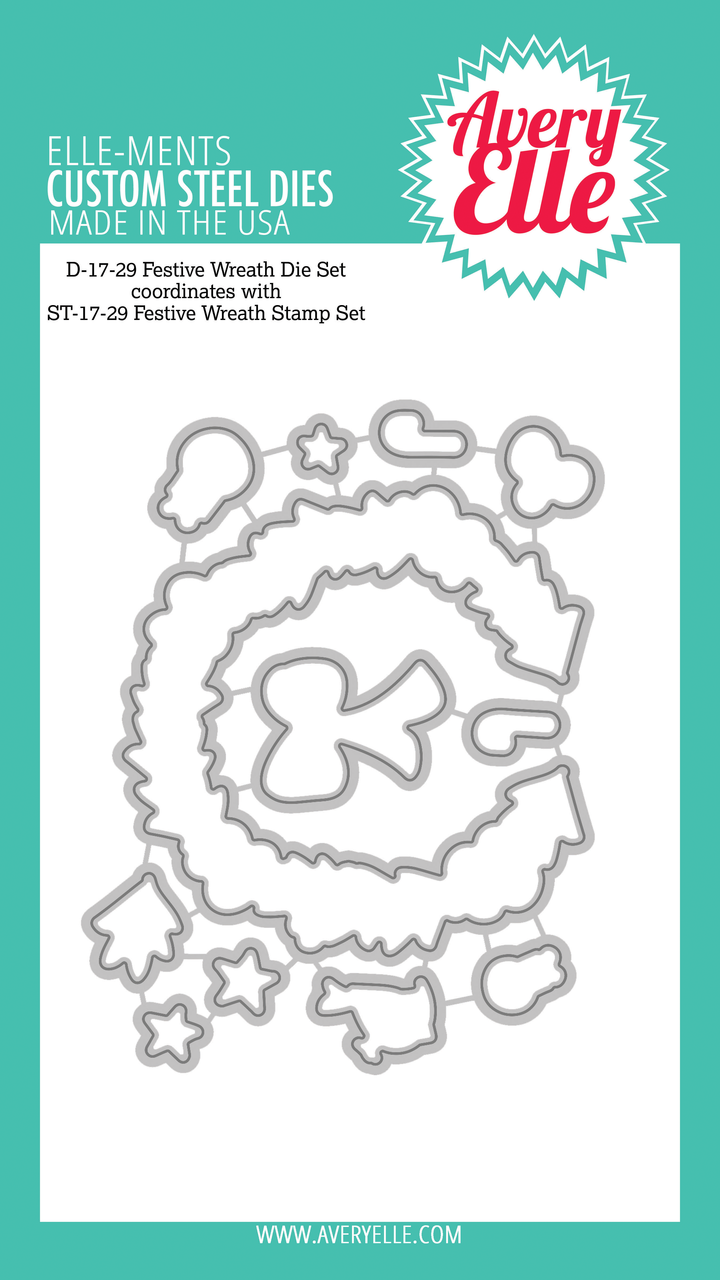 ##Avery Elle - Festive Wreath Clear Stamps