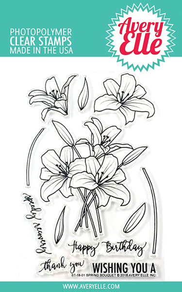 *NEW* - Avery Elle - Spring Bouquet Clear Stamps