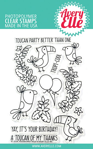 *NEW* - Avery Elle - Toucan Party Clear Stamps