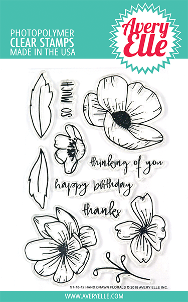 *NEW* - Avery Elle - Hand Drawn Florals Clear Stamps