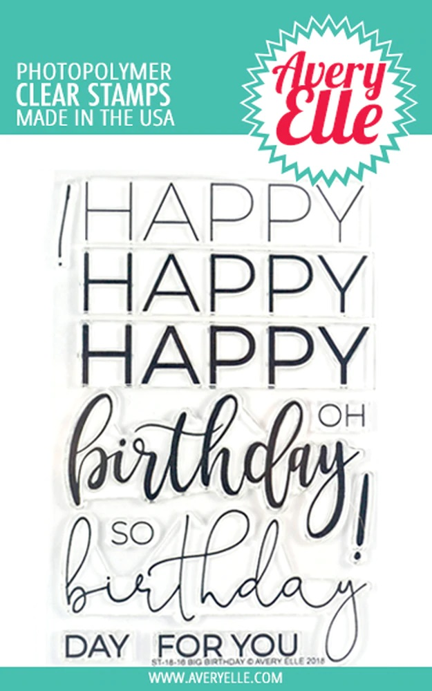*NEW* - Avery Elle - Big Birthday Clear Stamps