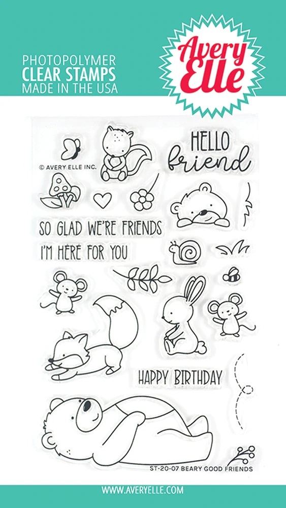 *NEW* - Avery Elle - Beary Good Friends Clear Stamps
