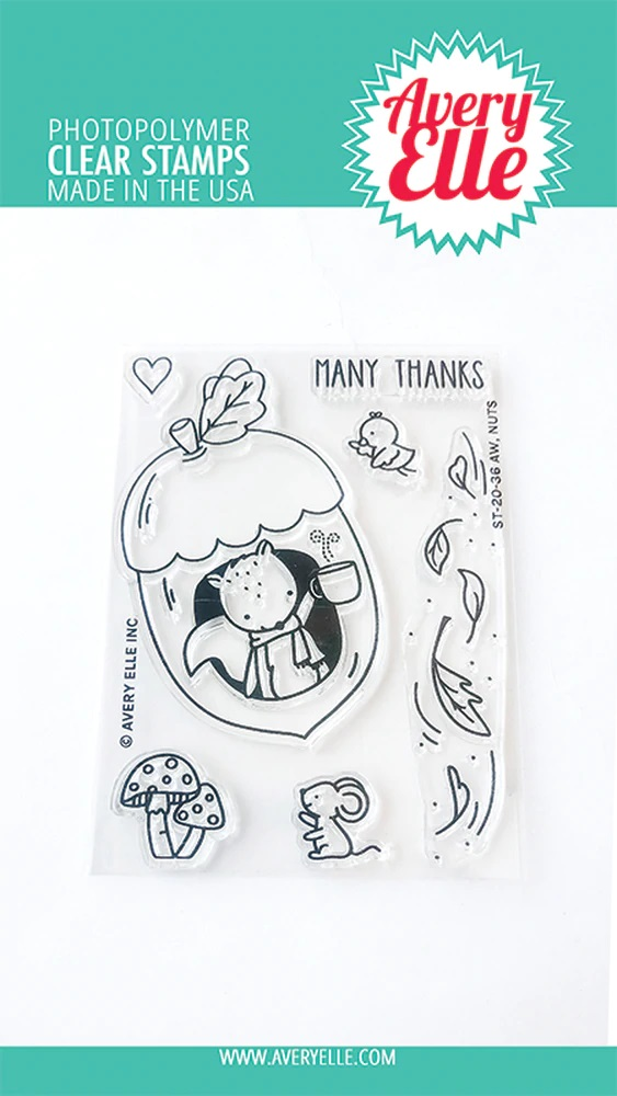 *NEW* - Avery Elle - Aw, Nuts Clear Stamps
