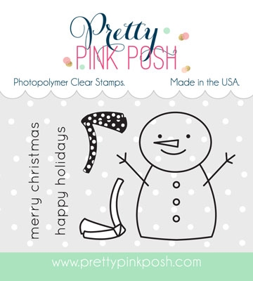 Pretty Pink Posh - Happy Snowman stamp set