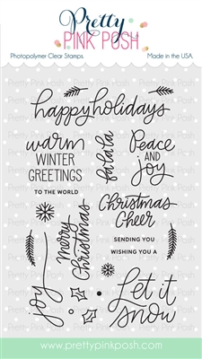 Pretty Pink Posh - Holiday Greetings stamp set