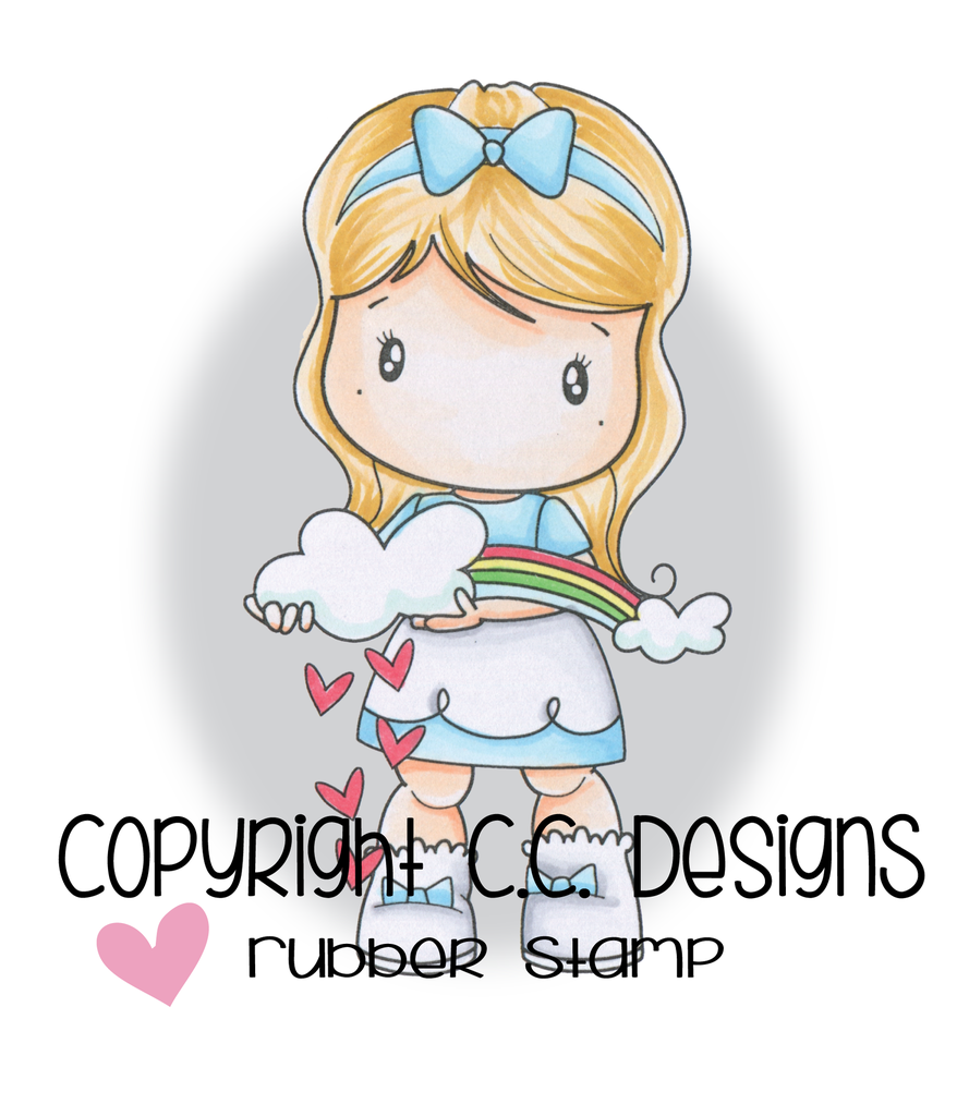 *NEW* - CC Designs - Swiss Pixies Rainbow Lucy Rubber Stamp