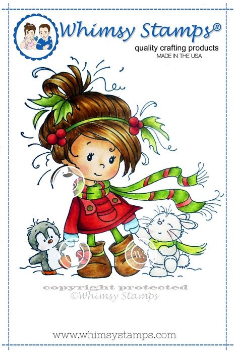 Whimsy Stamps - Wee Stamps - Winter Friends