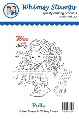 Whimsy Stamps - Wee Stamps - Polly - Wee Stamps