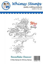 Whimsy Stamps - Wee Stamps - Snowflake Dancer - Wee Stamps