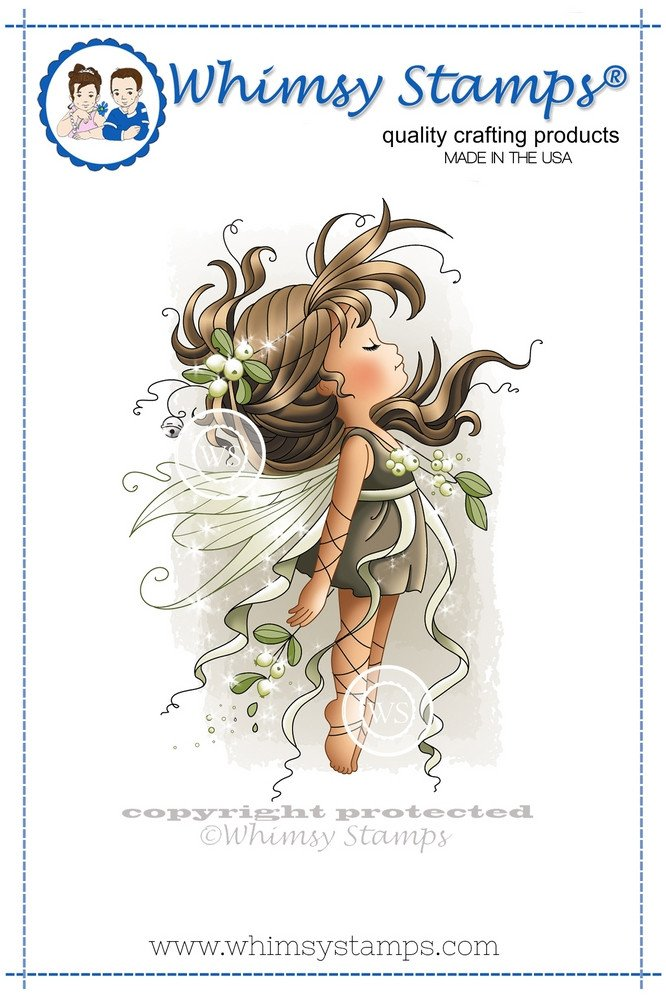 Whimsy Stamps - Wee Stamps - Mistletoe Fairy