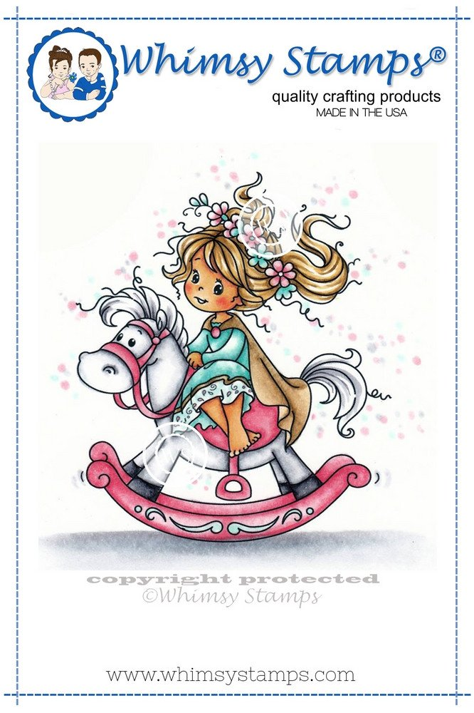 Whimsy Stamps - Wee Stamps - Princess - Wee Stamps