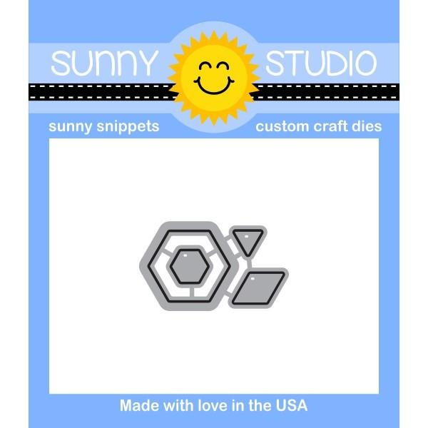 *NEW* - Sunny Studio - Quilted Hexagons Dies