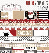 Hello My Name Is 6 x 6 Designer Paper Pad