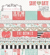 Save The Date 6 x 6 Designer Paper Pad