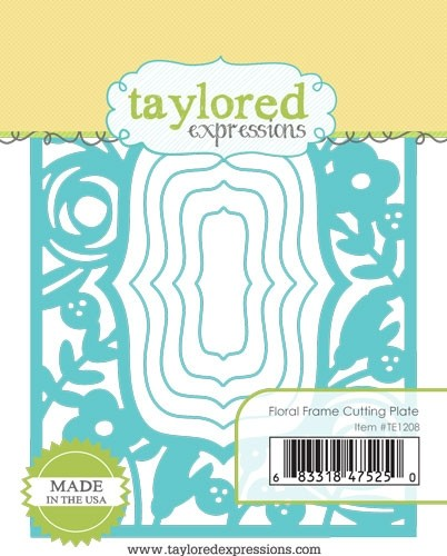 Taylored Expression - Floral Frame Cutting Plate