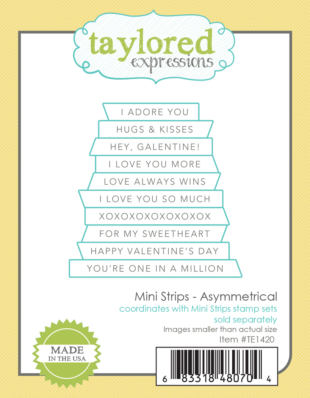 Taylored Expression - Mini Strips - Asymmetrical Die