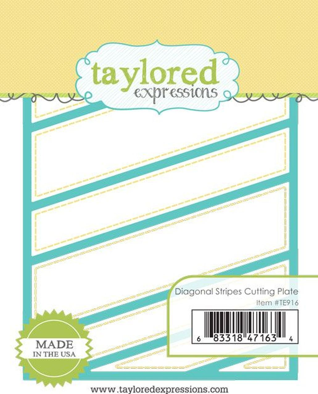 Taylored Expression - Diagonal Stripes Cutting Plate