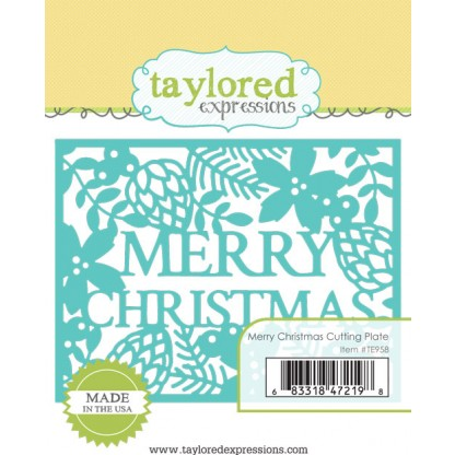 Taylored Expressions- Merry Christmas Cutting Plate