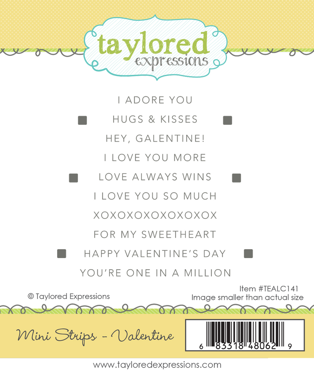 Taylored Expression - Mini Strips - Valentine