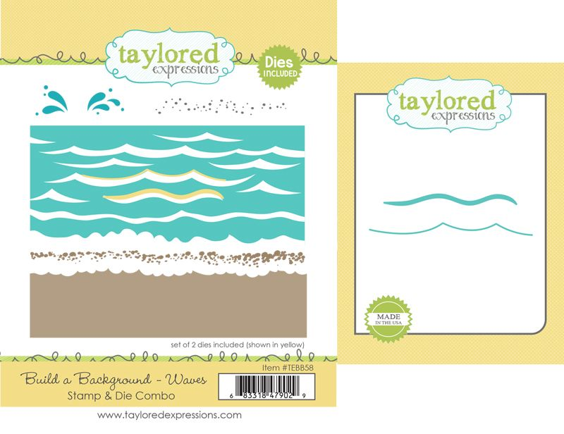 Taylored Expression - Build a Background - Waves Stamp & Die Combo