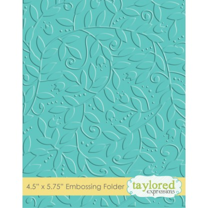Taylored Expressions - Embossing Folder - Leafy Vine