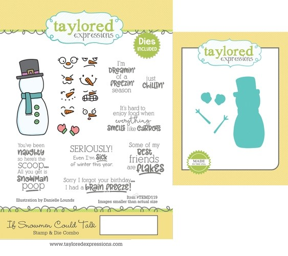 Taylored Expressions - If Snowmen Could Talk Stamp & Die Combo