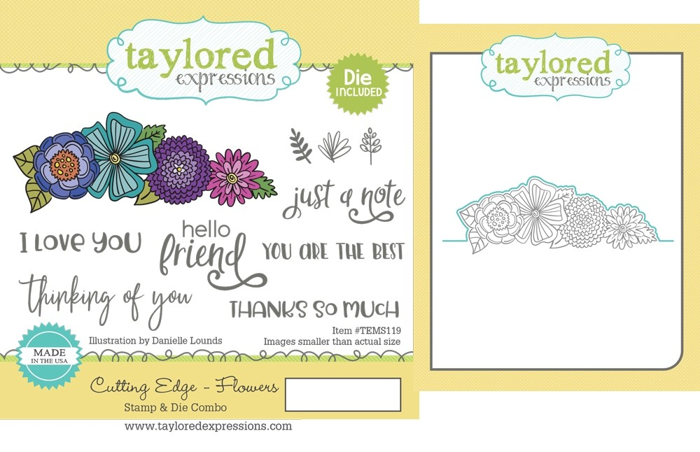 Taylored Expression - Cutting Edge - Flowers Stamp & Die Combo