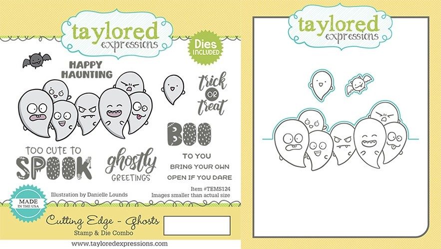 Taylored Expression - Cutting Edge - Ghosts Stamp & Die Combo