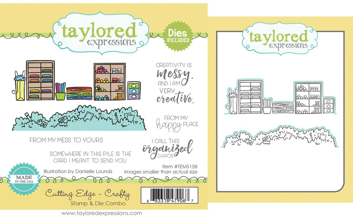 Taylored Expression - Cutting Edge - Crafty Stamp & Die Combo