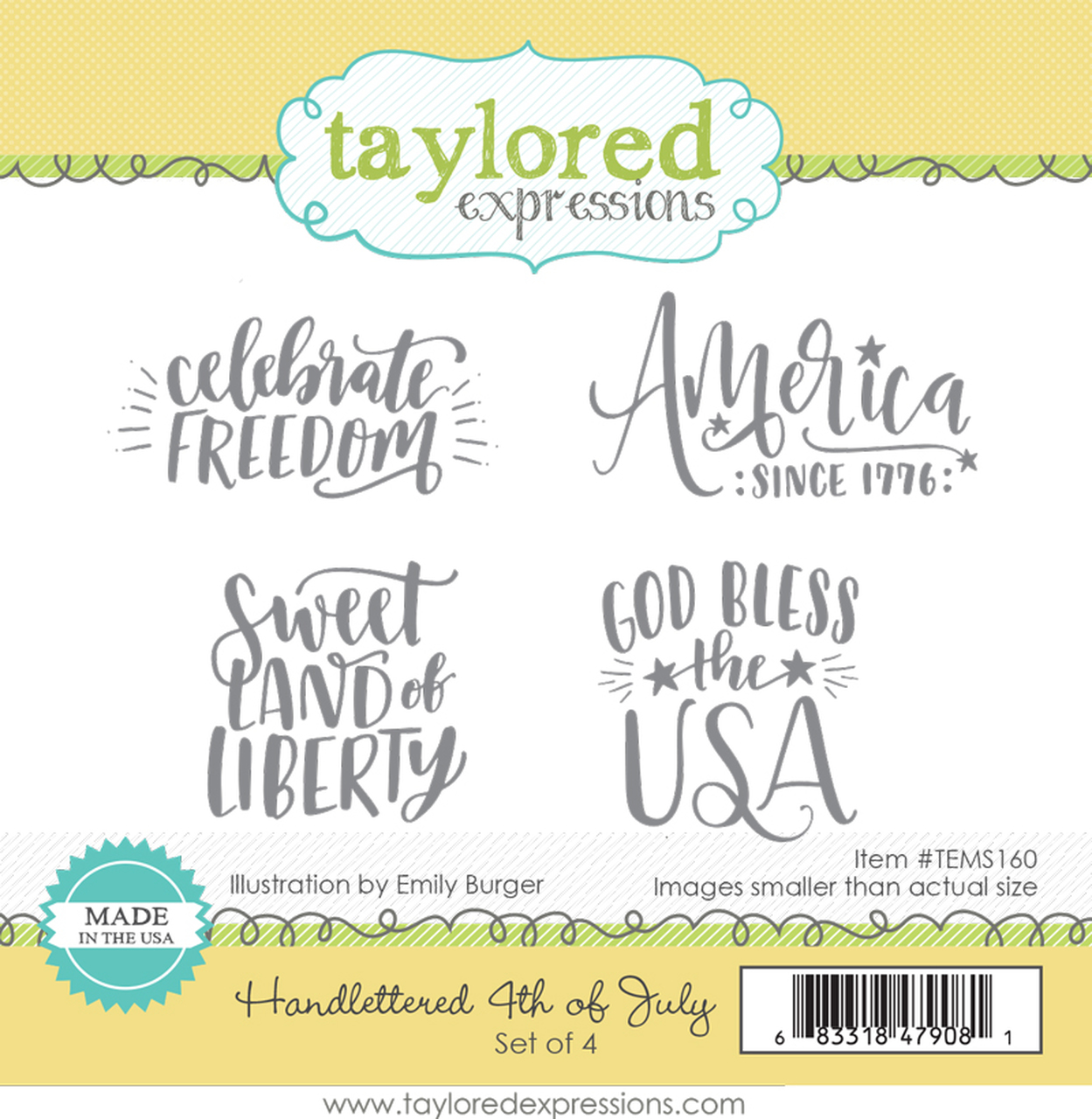 *NEW* - Taylored Expression - HANDLETTERED 4TH OF JULY