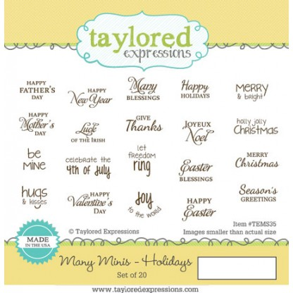 Taylored Expressions - Many Minis - Holidays