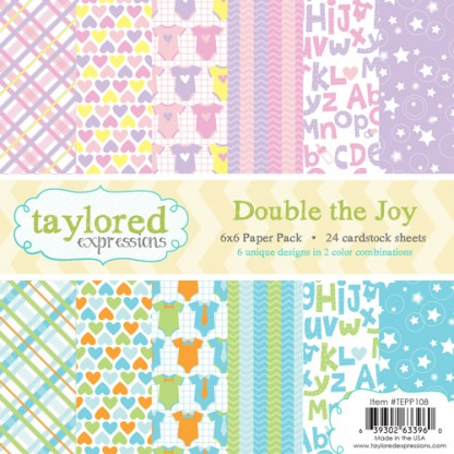 Taylored Expressions - TE 6x6 Paper Pack - Double the Joy