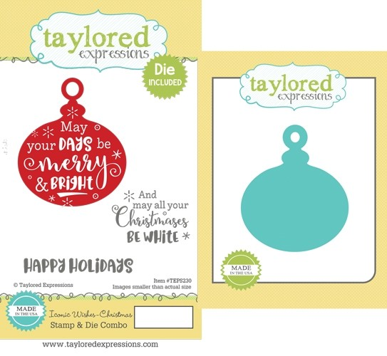 * XMAS *Taylored Expressions - Iconic Wishes - Christmas Stamp & Die Combo