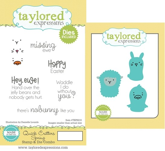 Taylored Expression - Quick Critters - Spring Stamp & Die Combo