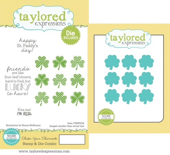 *NEW* - Taylored Expression - Shake your Shamrock Stamp & Die Combo