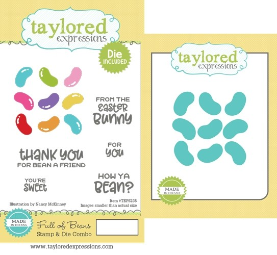 Taylored Expression - Full of Beans Stamp & Die Combo