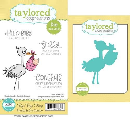 Taylored Expression - Bye Bye Sleep Stamp & Die Combo
