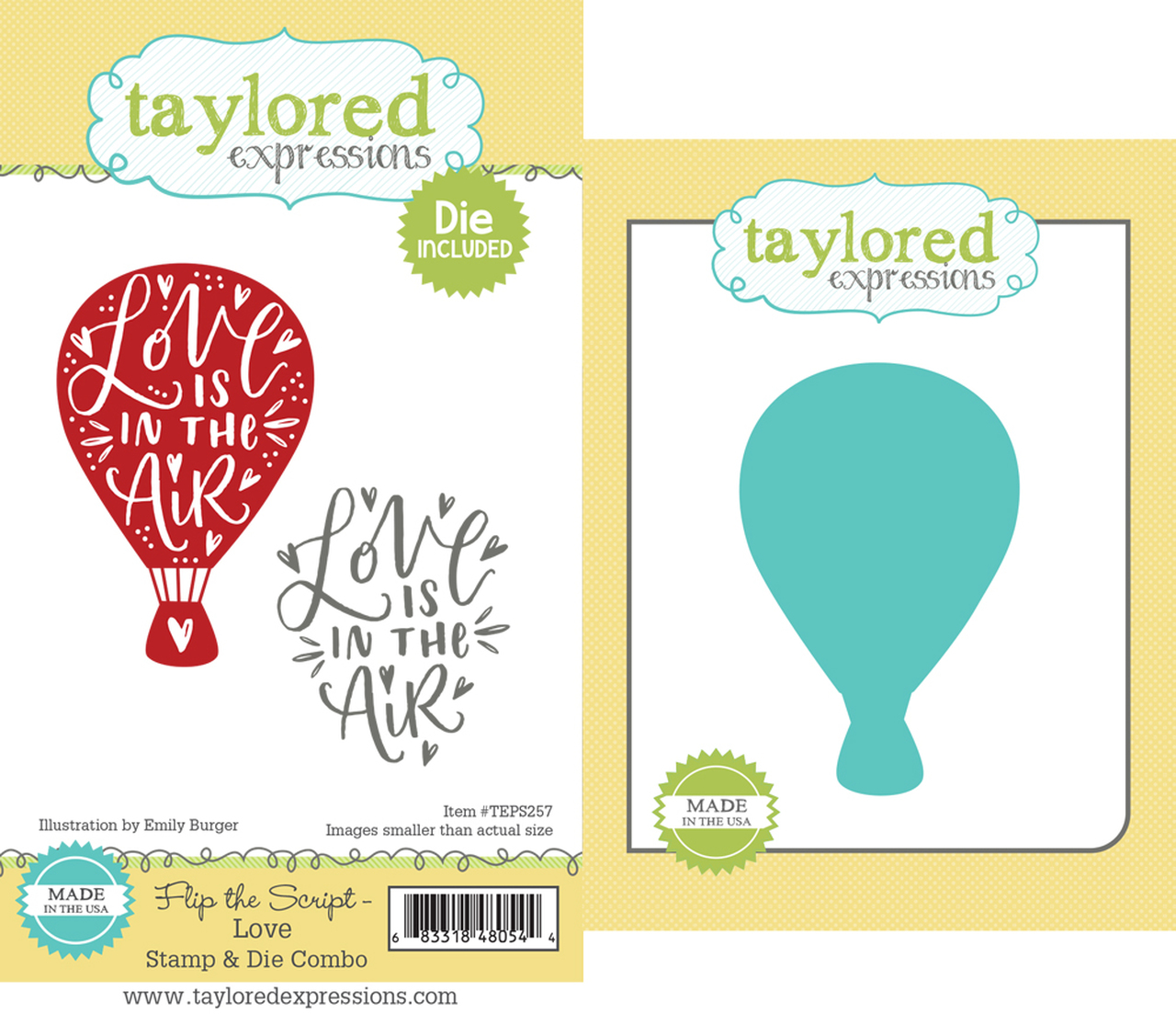 Taylored Expression - Flip the Script - Love Stamp & Die Combo