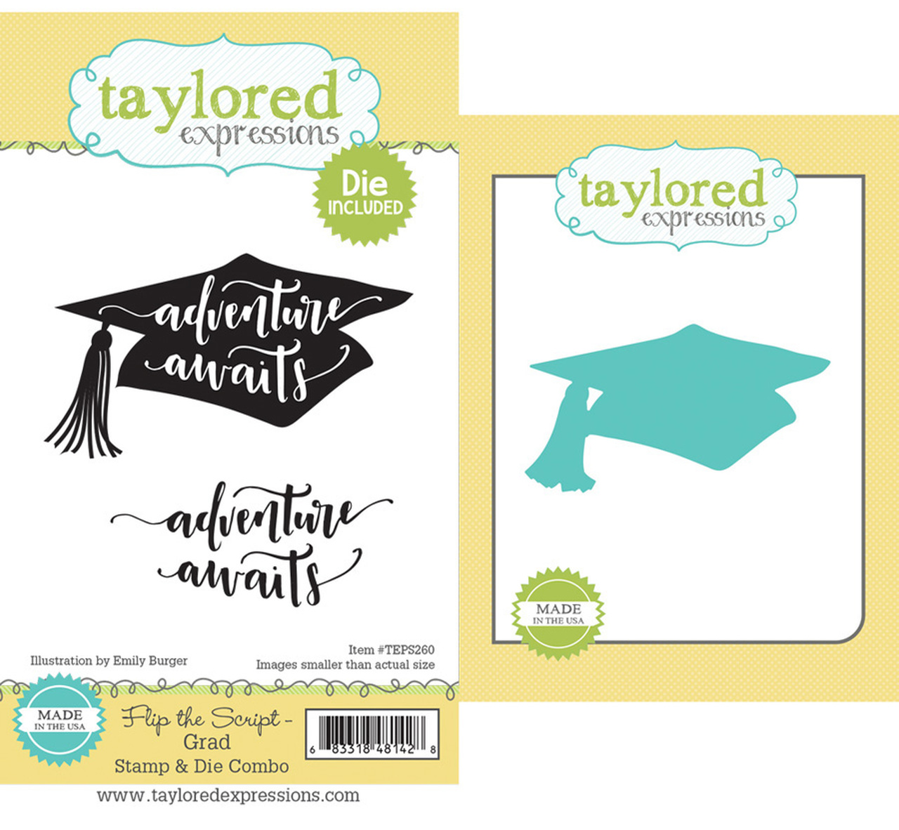 Taylored Expression - Flip the Script - Grad Stamp & Die Combo