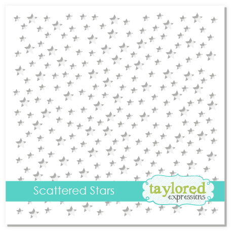 *NEW* - Taylored Expression - Scattered Stars Stencil