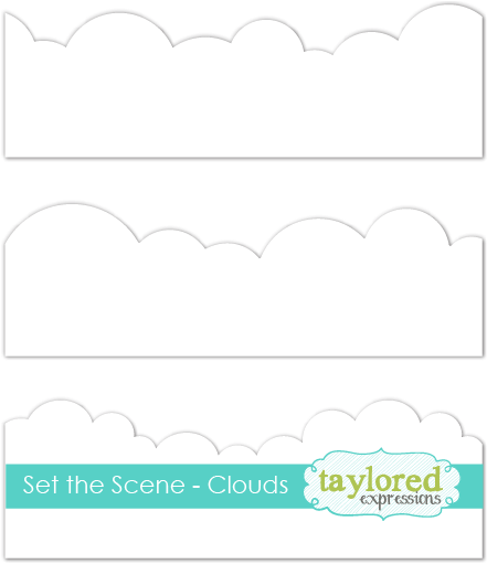 Taylored Expression - Set the Scene - Clouds Stencil Strips