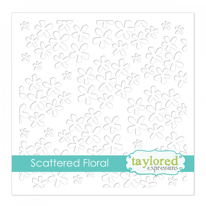 Taylored Expression - Scattered Floral Stencil