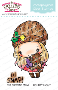 *NEW* -  The Greeting Farm - Holiday Anya 7 - Clear