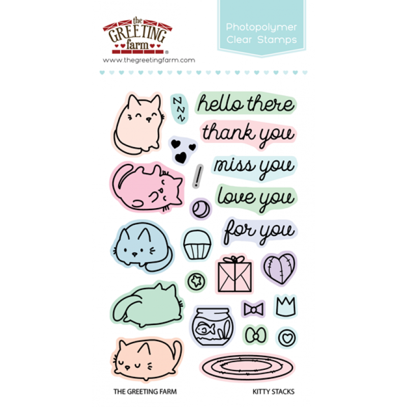 *NEW* - The Greeting Farm - Kitty Stacks - Clear