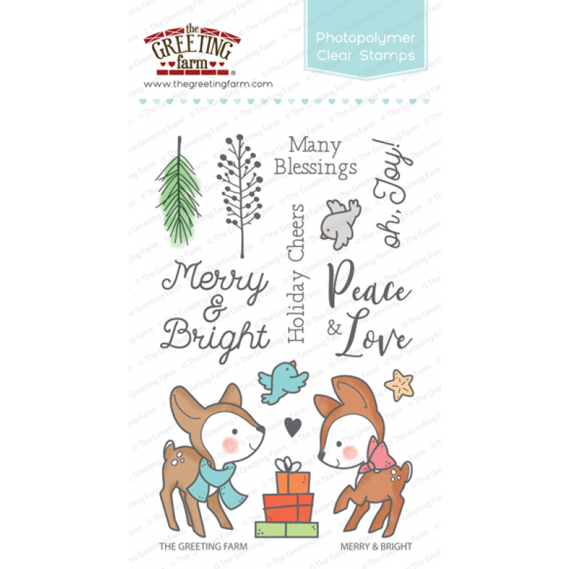 *NEW* -  The Greeting Farm - Merry & Bright - Clear
