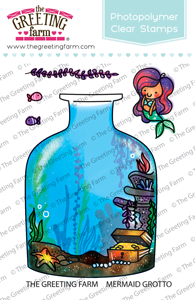 *NEW* -  The Greeting Farm - Mermaid Grotto - Clear
